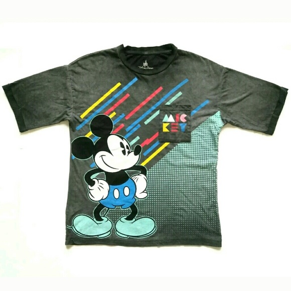 32dc0420 Disney Shirts | Parks Mickey Mouse T Shirt Small Retro Vtg | Poshmark